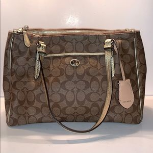 Coach Peyton Signature Double Zip Carryall F24603